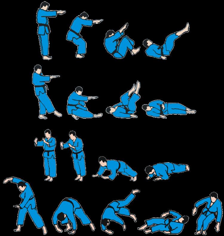 pády judo ukemi